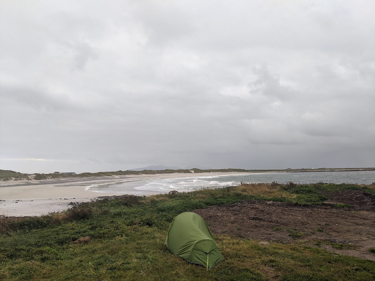 wild camp in outer hebrides
