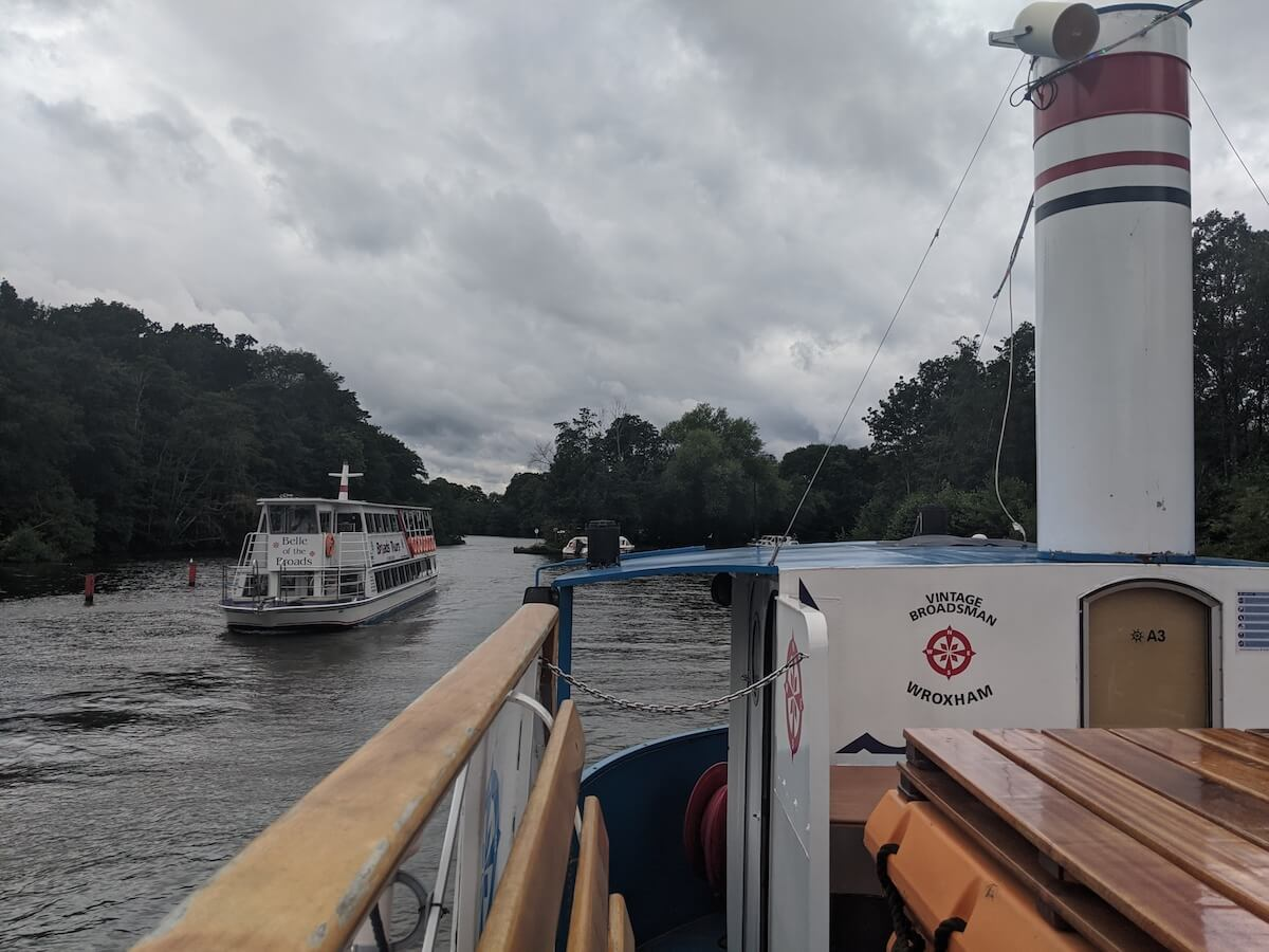 on the boats on the norfolk broads