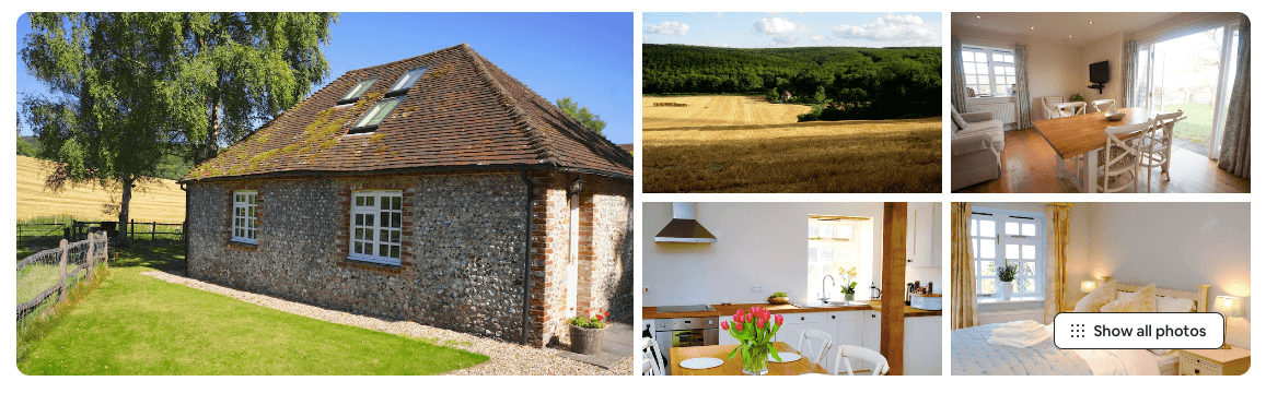 Holiday cottages in south downs