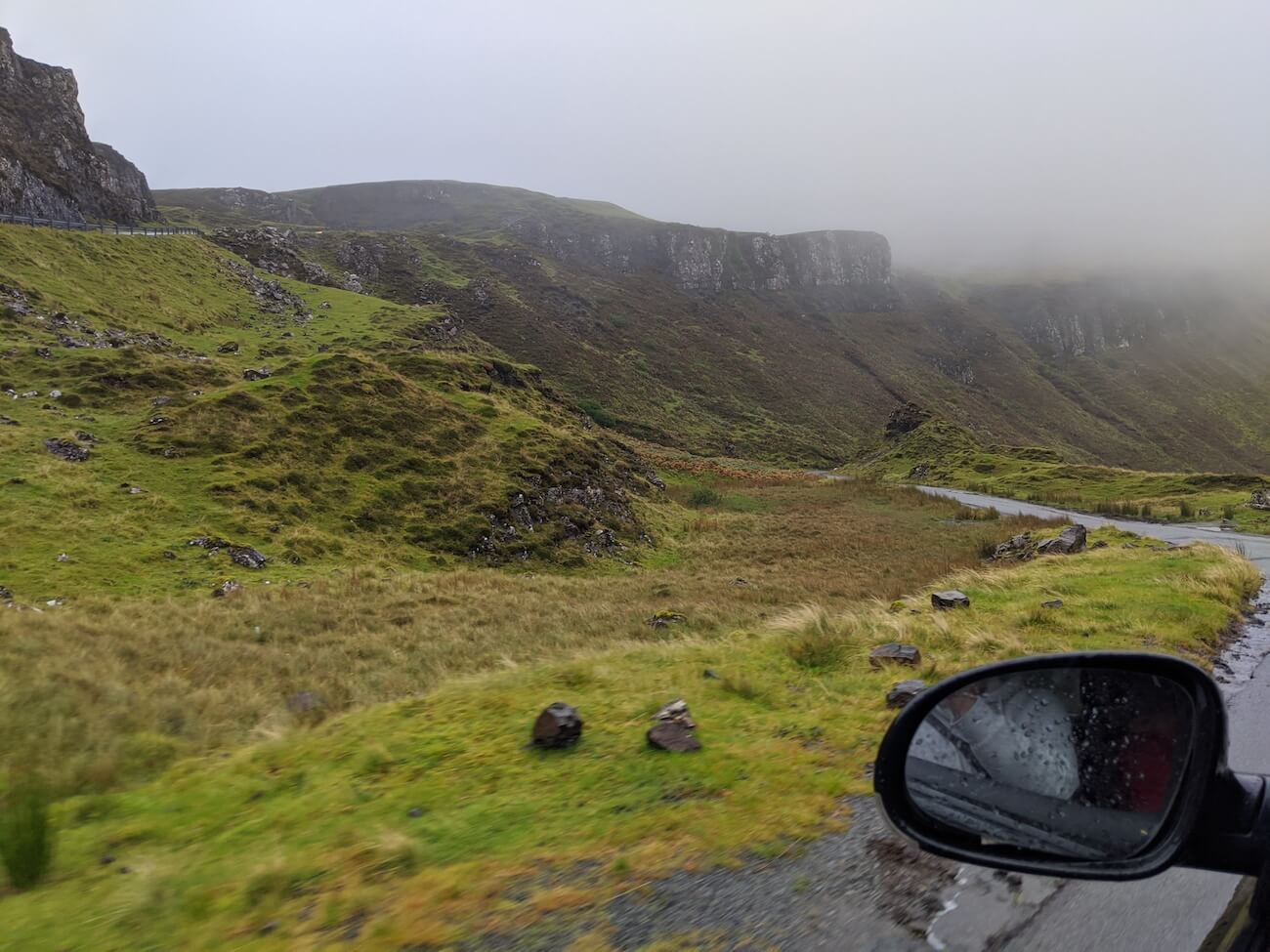 Driving in Staffin