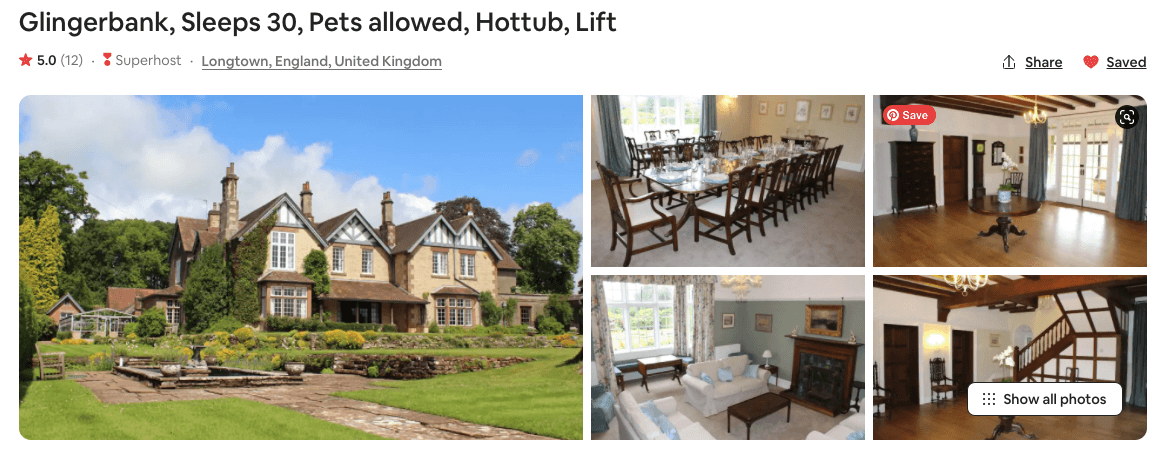airbnbs in england