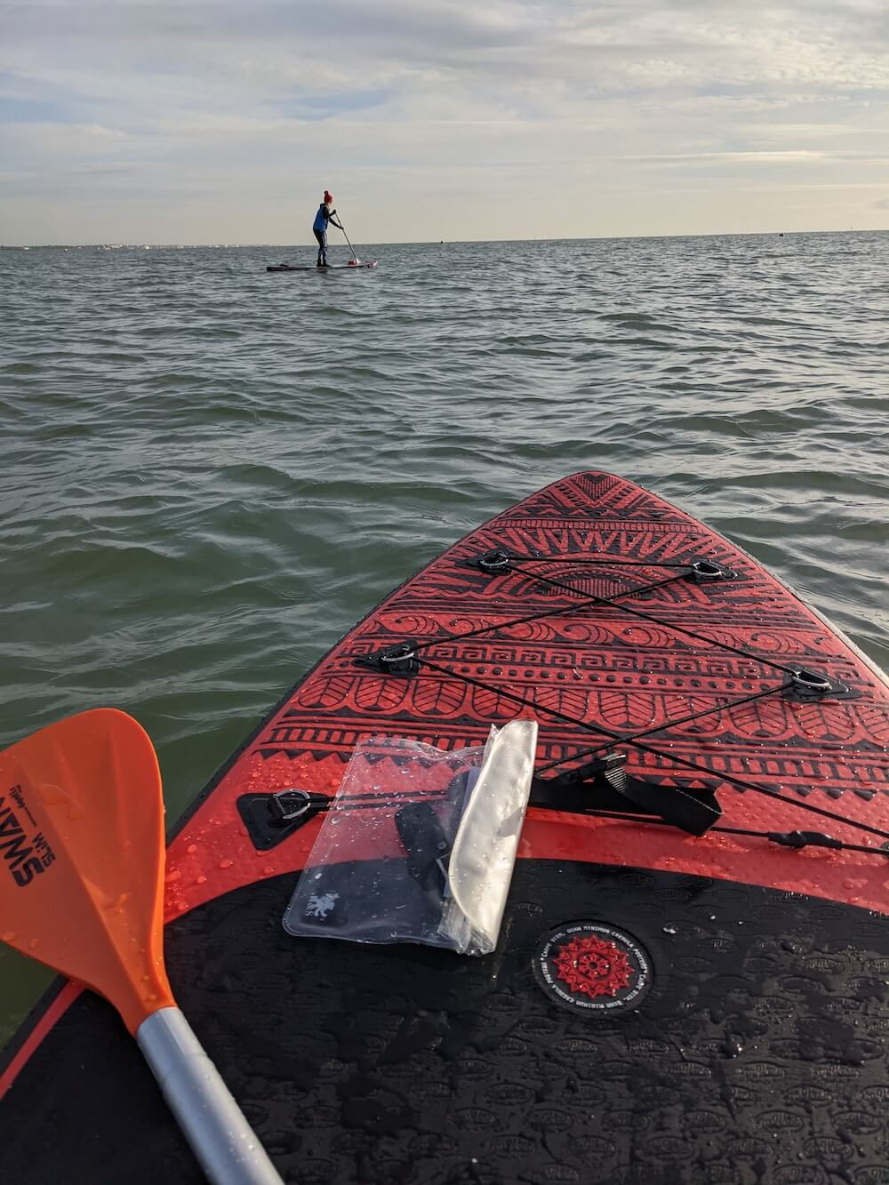 Going paddleboarding in winter