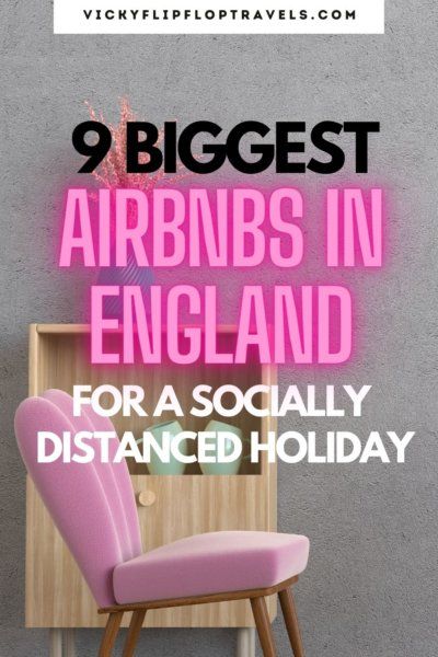 biggest airbnbs in england