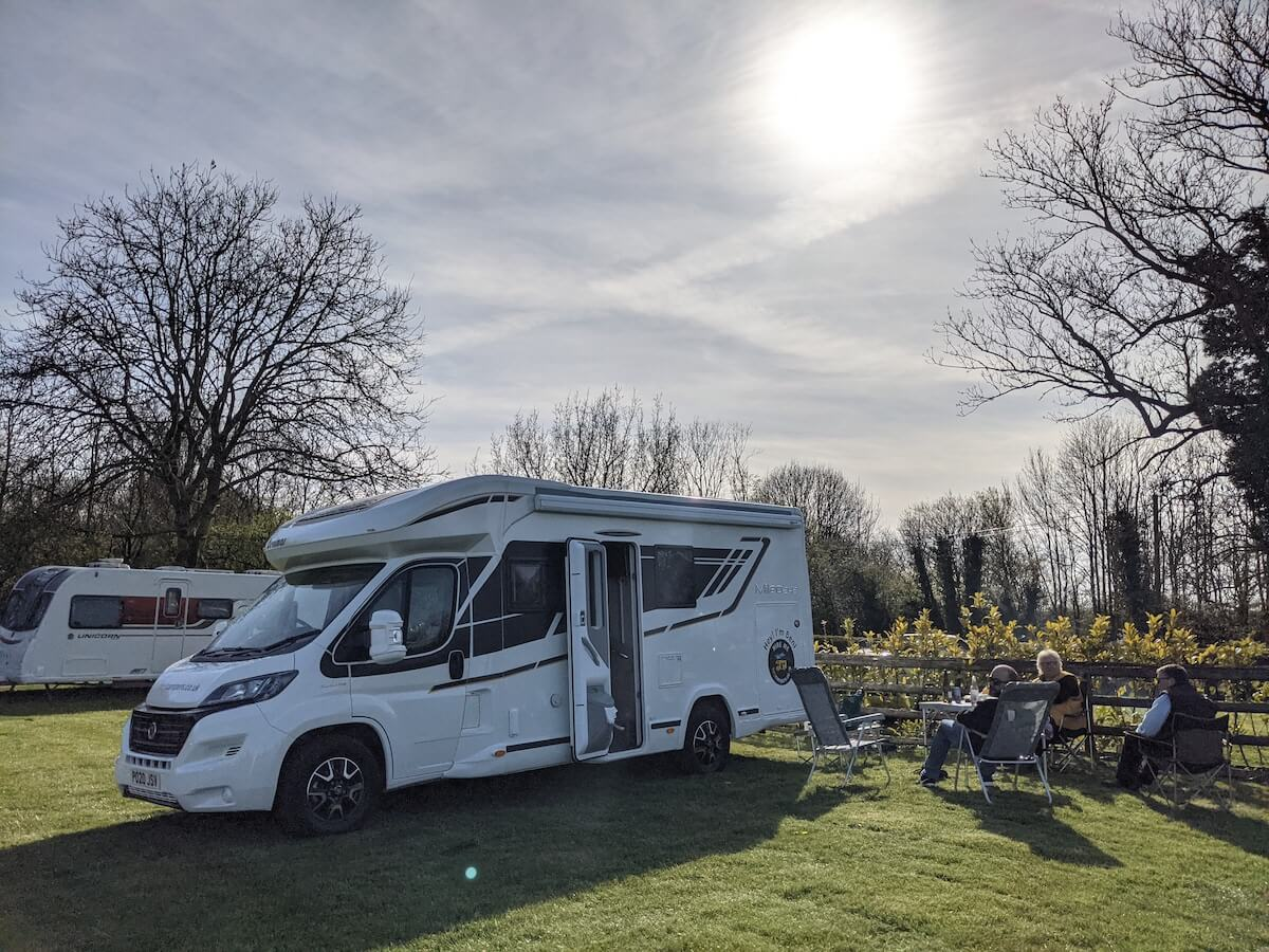 Peak district motorhome