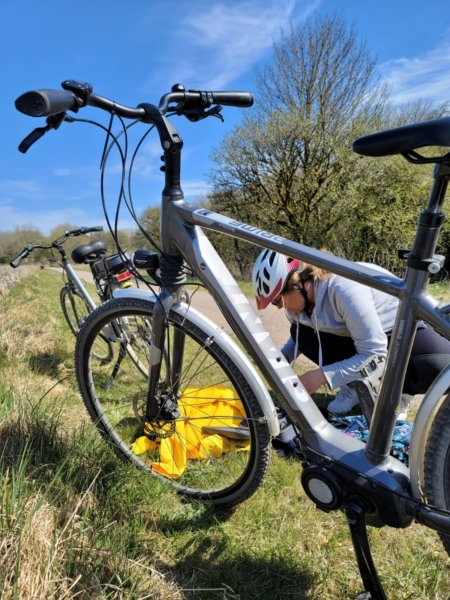 Cycling in the derbyshire dales