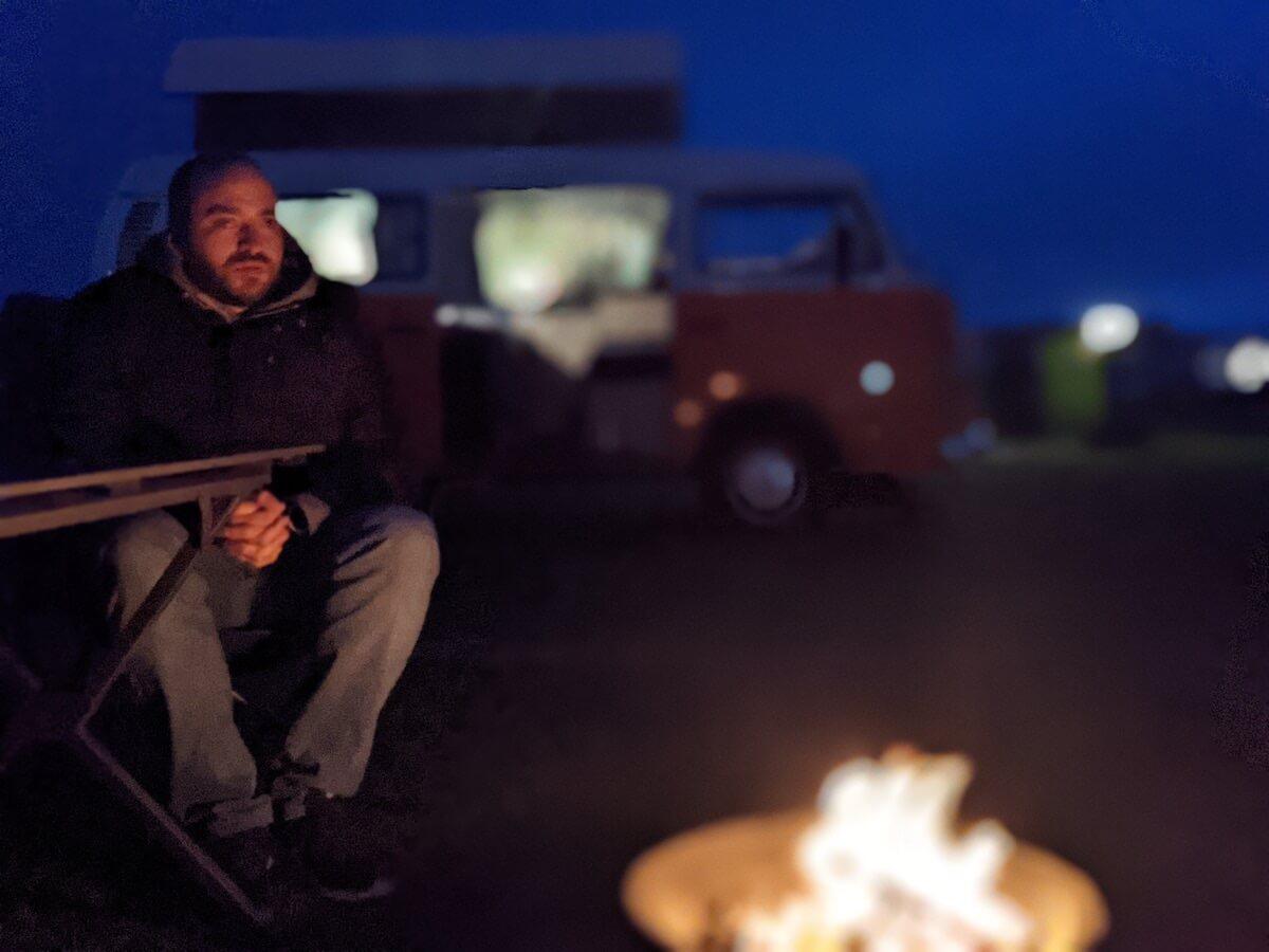 night time campervan