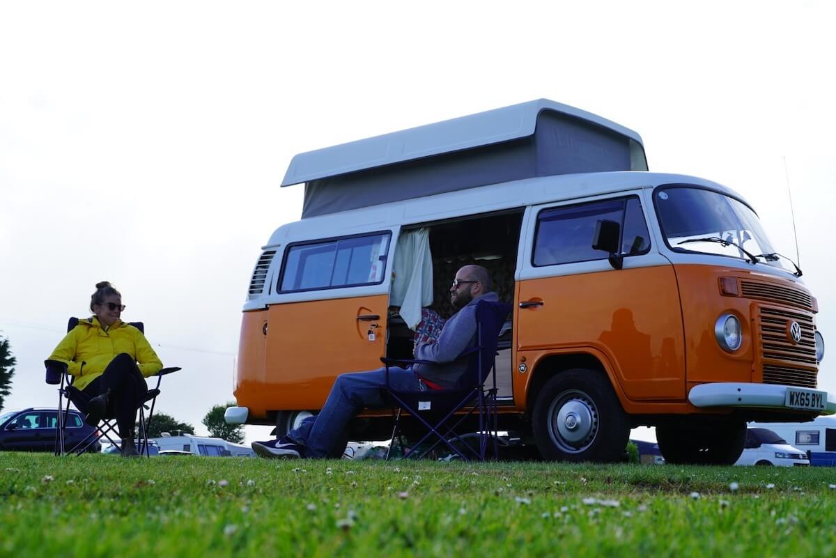 Chilling at the campervan