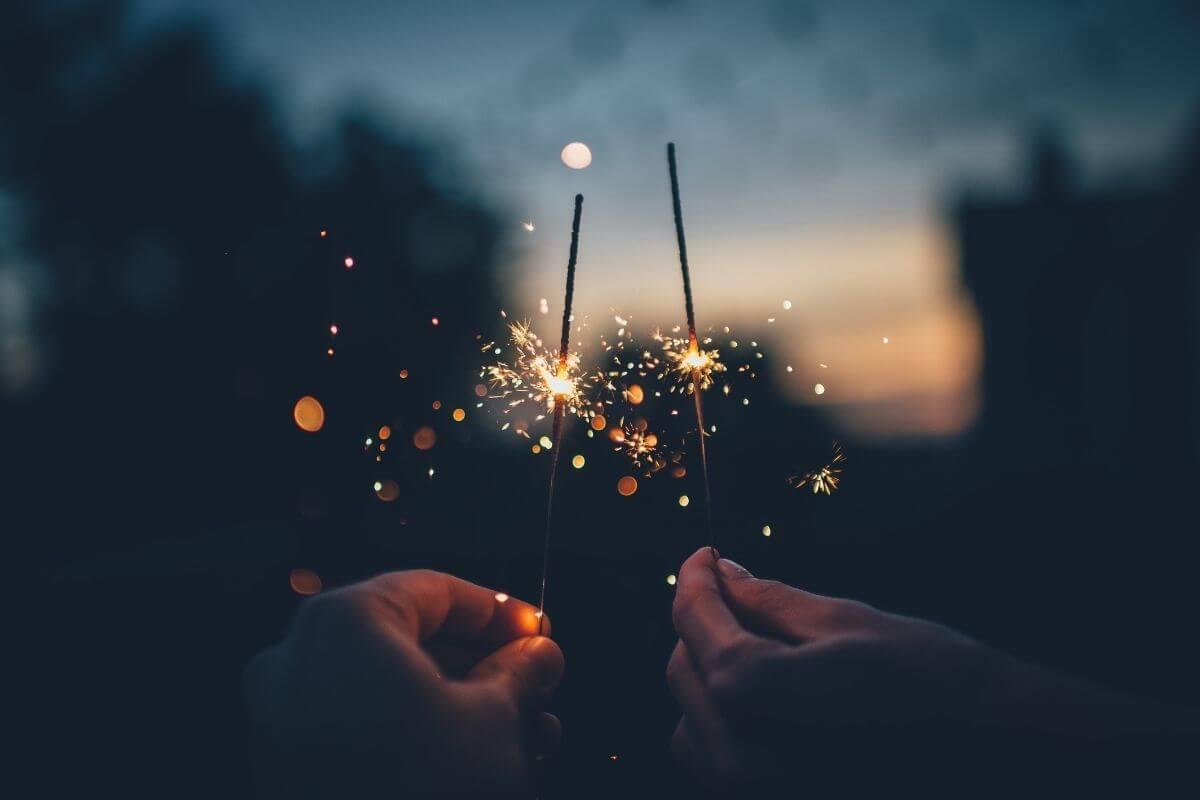 sparklers at festivals